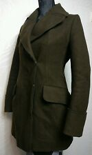 Uniqlo +J Jill Sanders Womens Brown WOOL Winter Smart Jacket Coat Size XS UK 6