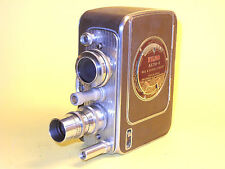 Bell & Howell Filmo AUTO-8 - 8mm movie camera w/two lenses and Case.