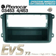 Phonocar 03453 Mascherina Autoradio ISO -2ISO 2DIN Antracite VW Golf V 5 Serie