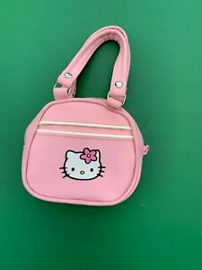 Build a Bear Accessory - Hello Kitty Pink Vinyl Purse - Super Cute!