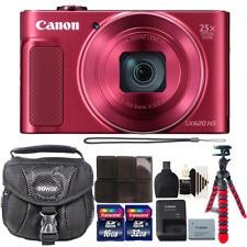 Canon PowerShot SX620 HS 20.2MP Red Digital Camera with 48GB Accessory Kit