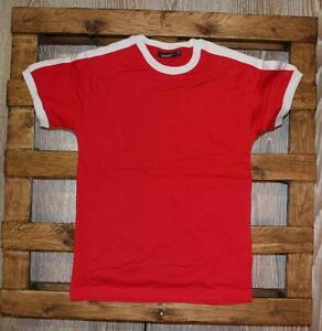 Maglia neutra manica corta Rossa con bordino Bianco della Hanes