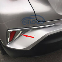 Fit Toyota CHR C-HR 2016 2017 Rear Back Fog Light Lamp Cover Trims Chrome ABS