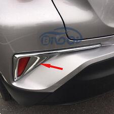 Fit Toyota CHR C-HR 2016 2017 Rear Back Fog Light Lamp Cover Trims Chrome ABS