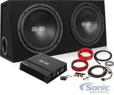 "Belva BPKG212 1200 Watt Bass Package w/ Two 12"" Sub Box + Mono Car Amp + Amp Kit"