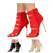 Faux Suede Upper No Pattern Special Occasion Heels for Women