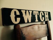 CWTCH sign Welsh Wales Vintage Style Sign Old Hand Made Pub BBQ Garden Party