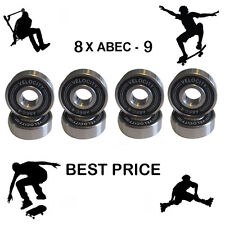 8  Velocity Abec 9 Wheel bearings Skateboard scooter Quad inline Roller skate 11