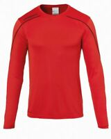 Uhlsport Sport Football Soccer Training Mens Long Sleeve Jersey Shirt Top Crew N Clothing, Shoes & Accessories