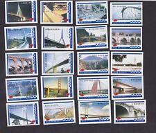 Série étiquettes Allumettes Chine Grands ponts du monde