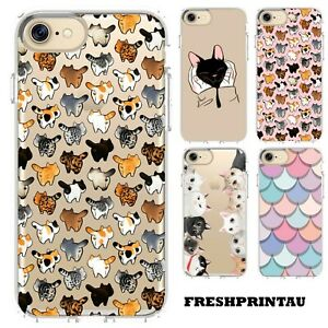 Case Cover Silicone Cute Kawaii Kittens Cat Collage Happy Colourful Kitty Pet
