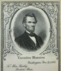 Civil War Abraham Lincoln Engraving Bust Bixby Letter Union Soldiers 1900-30's