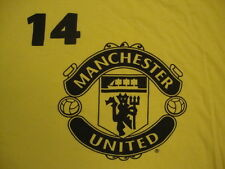 Manchester United Soccer Javier Chicharito 14 Player Fan Yellow T Shirt L