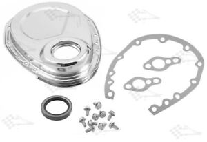 Chrome Timing Chain Cover Kit - SB Small Block Chevy 283 - 400
