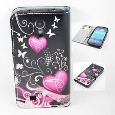 Flip PU Leather Phone Wallet Pouch Cover Case For Samsung Galaxy S4 SIV i9500