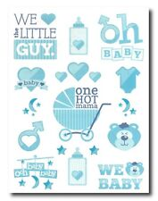 Baby Shower Favours - Temporary Tattoos for pregnancy / It's a boy / Blue theme