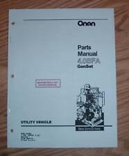 ONAN  4.0 BFA SPEC C & D GENSET PARTS MANUAL 965-0262
