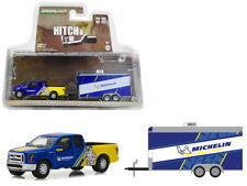 Greenlight 1/64 2016 Ford F-150 and Enclosed Car Diecast Michelin Tires (32130C)