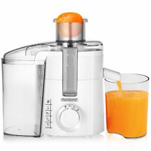 Entsafter Saftpresse Obstpresse Edelstahl 670 W Juicer 1,1 Liter inkl Filterkorb