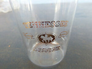 Vintage Jack Daniels Tennessee Squire Shot Glass Very Thin Walled Gold Emblem