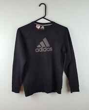 VINTAGE retrò da donna Adidas nero ATHLETIC SPORTS Overhead Felpa Maglione  UK 8 84d7ff58037d