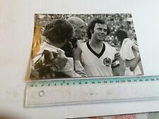 FRANZ BECKENBAUER & HELMUT SCHON, 1974,  GERMAN NATIONAL FOOTBALL TEAM, PHOTO