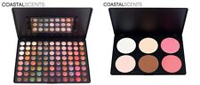 2 x COASTAL SCENTS SETS CONTOUR MATTE BLUSH & EYE SHADOW PALETTE 94 MIXED COLORS