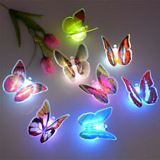 1pc Creative Color Changing ABS Butterfly LED Night Light Lamp Wall Decor Random