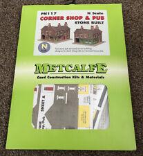 Metcalfe PN117 Card- Stone Corner Shop & Pub (N) Railway Model