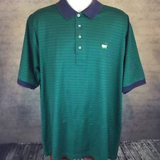 Augusta National Golf Shop Slazenger Men's Polo Green Blue Strips Size XL