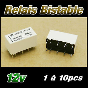 994-12# relais bistable 2 RT 2A bobine 12v 1 à 10pcs - 12v relay HFD2/012-S-L2-D