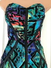 LIPSY BANDEAU MINI DRESS SIZE 12  MULTI COLOURED PARTY
