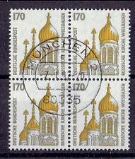 Bund BM o MiNr 1535 Viererblock  Sehenswürdigkeiten
