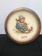 M J Hummel 1975 Collector Plate Beautifully Framed