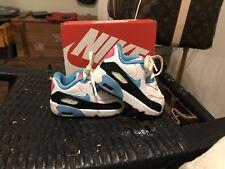 Nike Air Max 90 (Td) Toddler Shoes Size 4c 833379-104 Black Blue Lagoon Volt