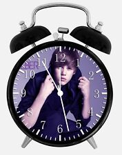 "Justin Bieber Alarm Desk Clock 3.75"" Room Office Decor W141 Nice For Gift"
