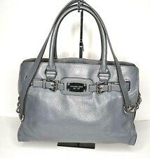 Michael Kors Hamilton Gray Large Handbag/ Satchel/ Purse Silver Accents