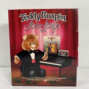Teddy Ruxpin Love Songs - Cassette, Tuxedo, & Songbook 1986.                  D4