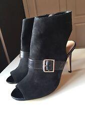 Jasper Conran Black Ladies Women Ankle High Heel Shoe Boot Peep Toe Size 5 38