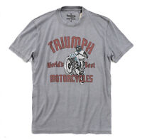 Lucky Brand - Men's S - NWT $49 - Faded Gray Triumph Motorcycle Graphic Tee