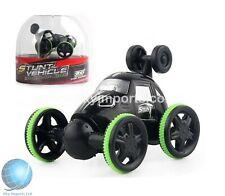 360° Rotation Black Mini Speed RC Remote Control Micro Racing Cars TURBO CHARGE