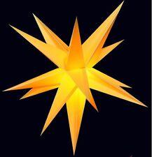 40cm Adventsstern gelb Außenstern 3D außen Stern Weihnachtsstern wetterfest