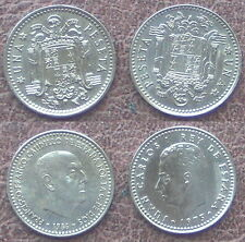 2 Münzen - 2 x 1 PESETA MÜNZE.SPANIEN.JUAN CARLOS I 1975 (1979)+FR.CAUDILLO 1966