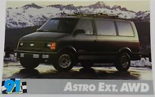 ASTRO AWD VAN EXT SHOWROOM PROMO NOS 1991 91 CHEVY DEALER DEALERSHIP POSTCARD