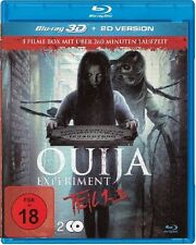 OUIJA Experiment 1 , 2 & 3  3D blu ray ( includes 2D version ) 2 Disc set (NEW )