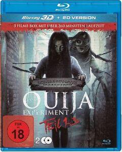 OUIJA Experiment 1 , 2 & 3  3D blu ray ( includes 2D  ) 2 Disc set (NEW ) REG B