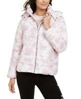 Calvin Klein Jacket Performance Puffer Tie Dye Quilted Pink Sz L NEW NWT 901