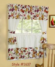 Chesapeake Kitchen Curtain with Swag and Tier Set 36 In #1637