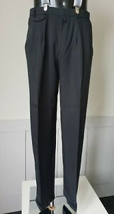 Vintage Pleated and Cuffed Trousers in Black 80s does 40s Lindy W33 L34 TJ60