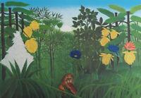 ROUSSEAU Henri : le repas du lion - LITHOGRAPHIE Originale signée, 1976, 300ex